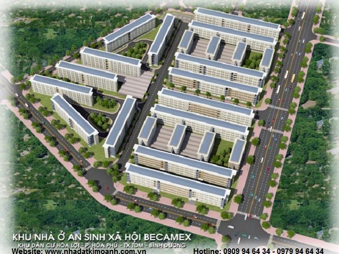 Nhà ở xã hội Hòa Lợi - Nhà ở đô thị Becamex khu Hòa Lợi
