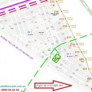 Lô góc 2 mặt tiền dự án Phú Chánh D mặt tiền đường Nguyễn Văn Linh thành phố mới Bình Dương